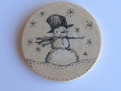 Michelle Palmer Needle Minder ~ Snowman N1 (One of a Kind!)
