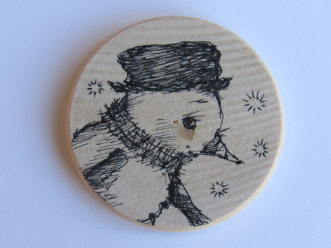Michelle Palmer Needle Minder ~ Snowman N13 (One of a Kind!)