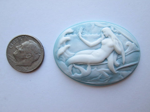 Needle Minder ~ Mermaid on Blue