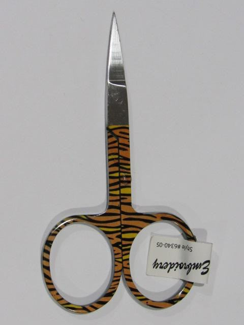 "3 3/4"" Embroidery Scissors - Animal Print - Tiger (Limited # Available!)"