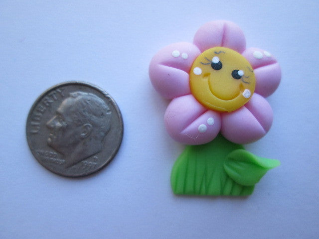 Needle Minder ~ Pink Flower (Clay)