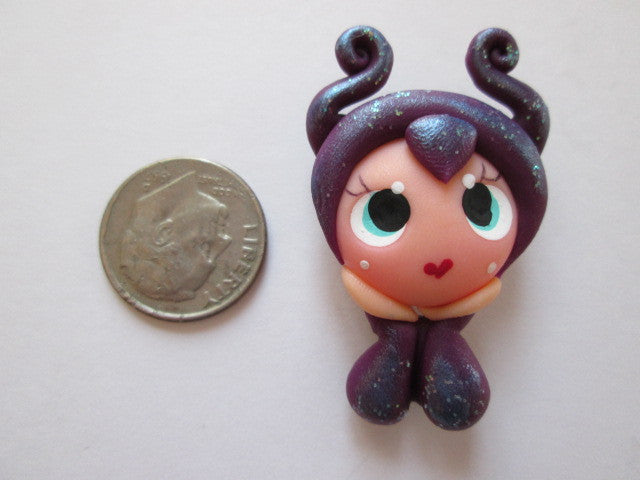 Needle Minder ~ Maleficent's Little Sister (Clay) ONE OF A KIND!