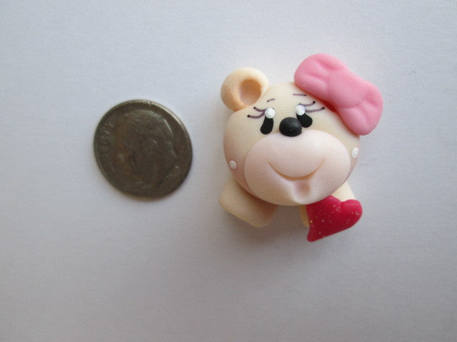 Needle Minder ~ Sweet Bear (Clay) ONE OF A KIND!