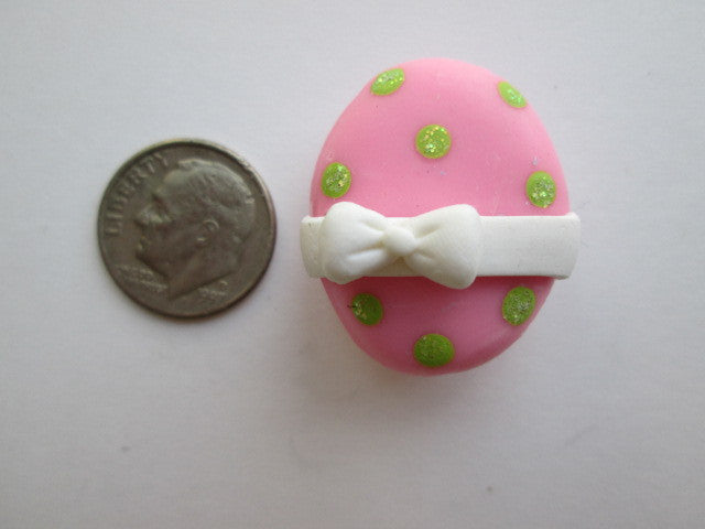 Needle Minder ~ Little Pink/Green Dots Easter Egg (Clay)