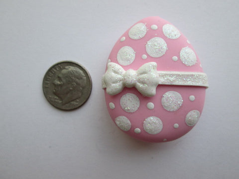 Needle Minder ~ Pink Dots Easter Egg (Clay) ONE OF A KIND!