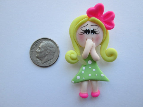 Needle Minder ~ Lil' Blond Girl #2 (Clay)