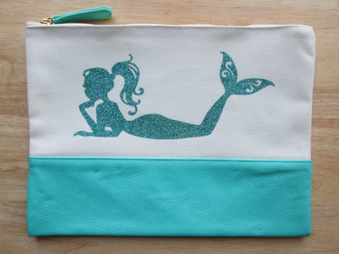 Project Zipper Bag - Glitter Mermaid (various colors)
