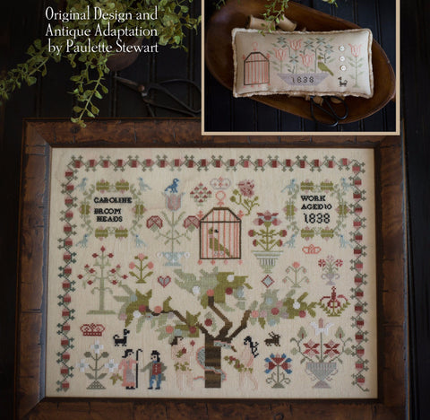 Plum Street Samplers ~ Caroline Broomhead 1838 & Little Friends