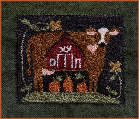 Little House Needleworks ~ Down on the Farm Punchneedle