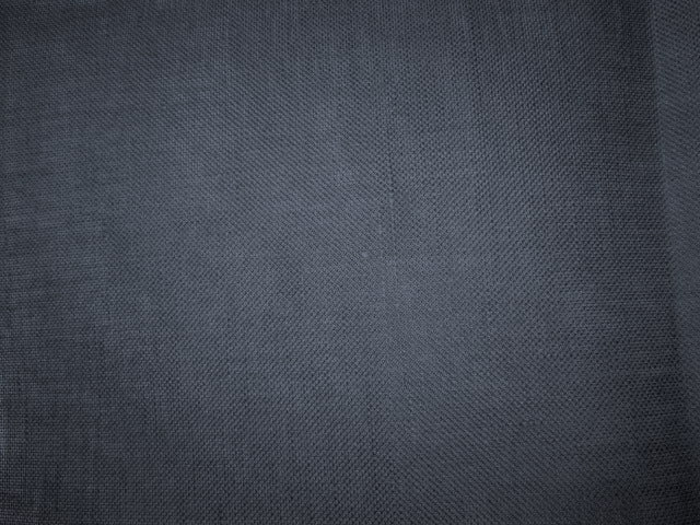 32ct Linen ~ Chalkboard Black Fat 1/8