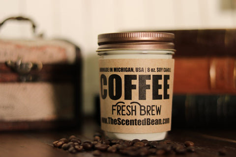 The Scented Bean - Fresh Brew Coffee 8 oz Candle