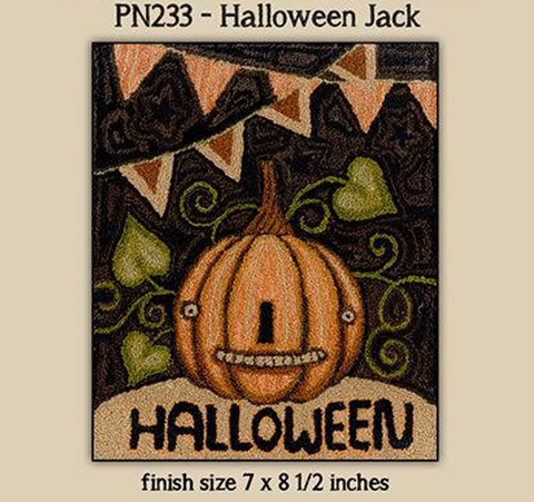 Teresa Kogut ~ Halloween Jack Punch Needle w/fabric