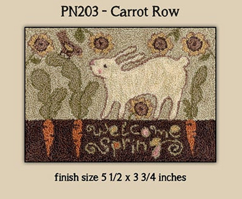 Teresa Kogut ~ Carrot Row Punch Needle w/fabric