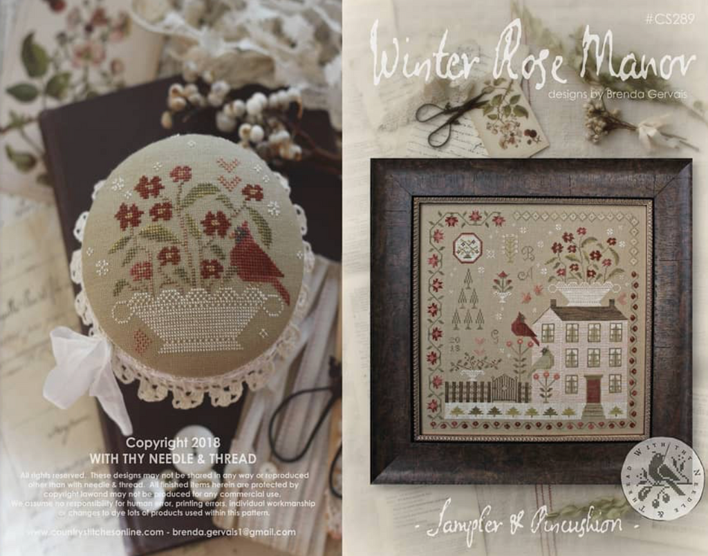 Country Stitches/With Thy Needle & Thread ~ Winter Rose Manor (gorgeous!)