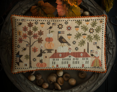 Plum Street Samplers ~ George Decorates for Martha