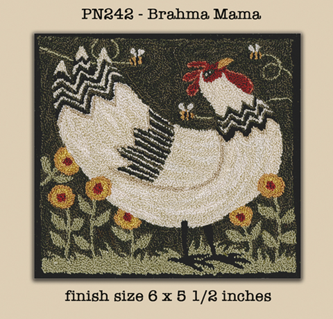 Teresa Kogut ~ Brahma Mana Punch Needle w/fabric