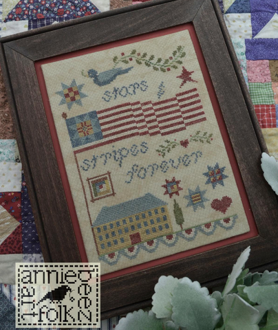 Annie Beez Folkart ~ Stars and Stripes Forever