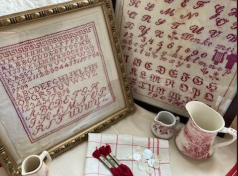 JBW Designs ~ A Collection of Antique Red Samplers