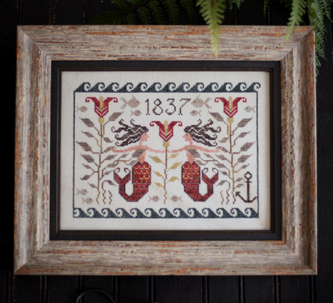 Plum Street Samplers ~ Mermaid Fraktur