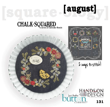 Hands On/JABC ~ Chalk Squared August w/buttons