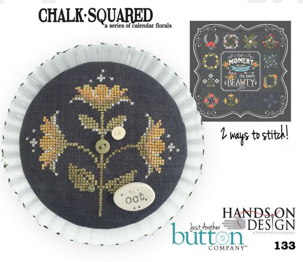 Hands On/JABC ~ Chalk Squared October w/buttons