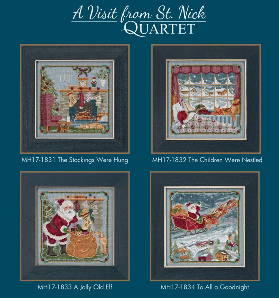 Mill Hill Kits ~ A Visit From St. Nick Quartet ~ COMING SOON ~ Pre-order now!