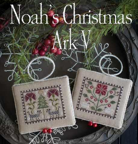 Plum Street Samplers ~ Noah's Christmas Ark #5 ~ Hyenas and Sheep