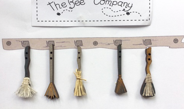 The Bee Company ~ Witch Broom Buttons