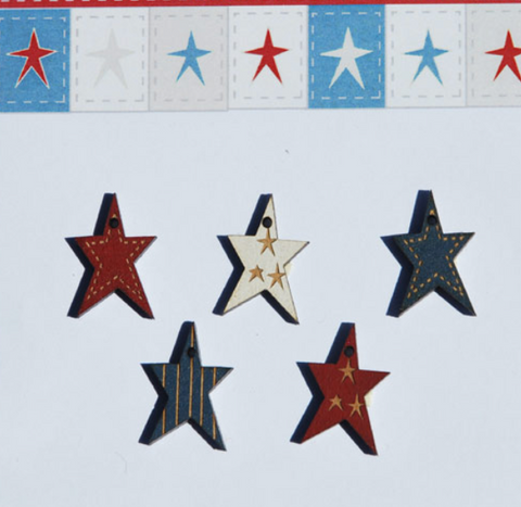 The Bee Company ~ Patriotic Star Buttons
