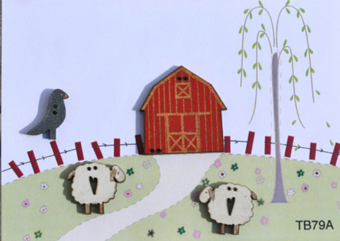 The Bee Company ~ Barn & Sheep Buttons