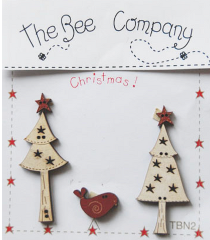 The Bee Company ~ Trees, Stars & Bird Buttons