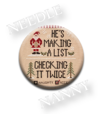 Country Cottage Needleworks ~ Santa's List Needle Nanny
