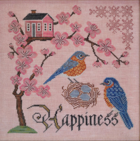 Cottage Garden Samplings ~ Bluebird of Happiness - Songbird's Garden Series Part 5
