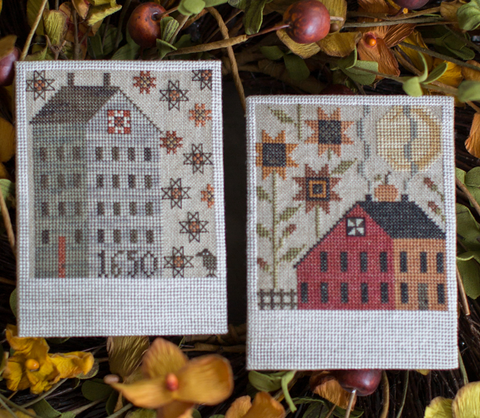 Plum Street Samplers ~ Autumn Saltboxes