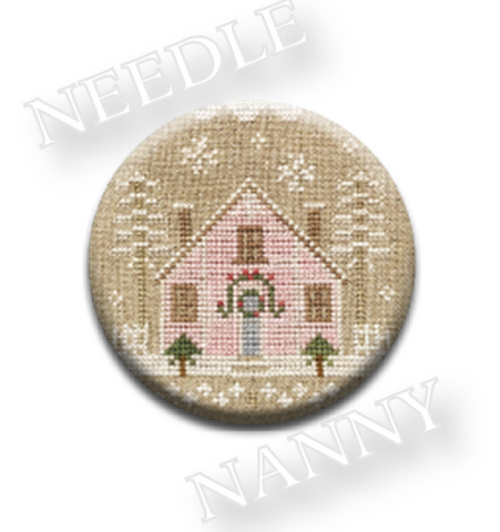 Country Cottage Glitter House #2 Needle Nanny