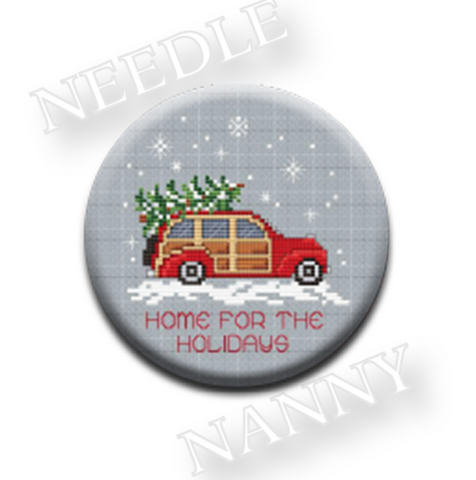 Sue Hillis Designs ~ Woody Needle Nanny ~ Home for the Holidays
