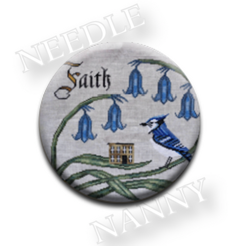 Cottage Garden Samplings ~ Have Faith  Needle Nanny