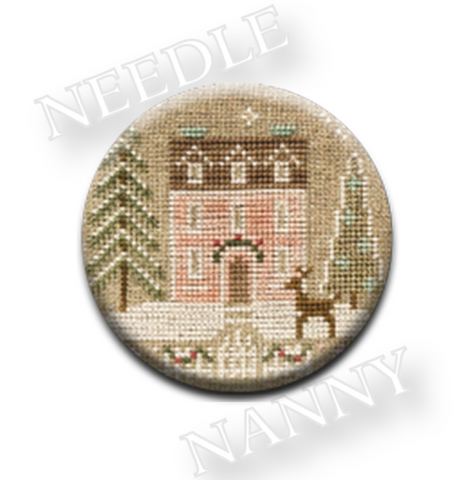 Country Cottage Glitter House #4 Needle Nanny
