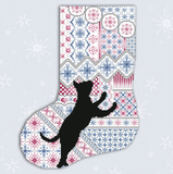 Kitty And Me Designs ~ Cats & Stockings Snowflake