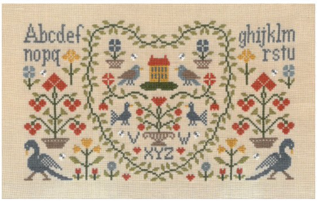 Jardin Prive' ~ New Antique Sampler