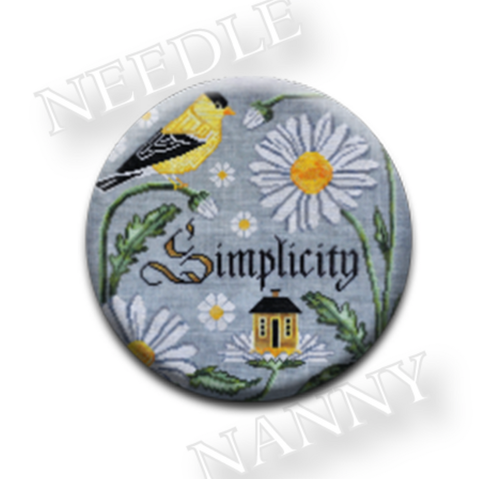 Cottage Garden Samplings ~ Simplicity Needle Nanny