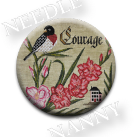 Cottage Garden Samplings ~ Courage Needle Nanny