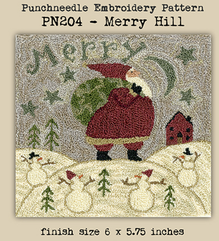 Teresa Kogut ~ Merry Hill Punch Needle w/weavers cloth