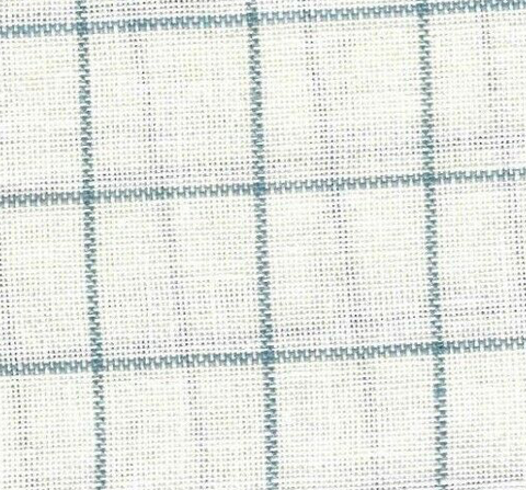 28ct Linen Cashel ~ Newport Misty Blue/Antique White Fat 1/4