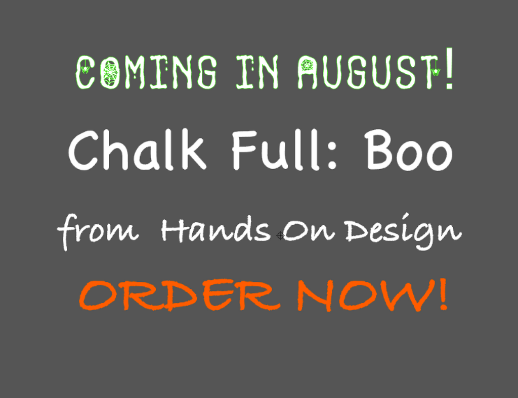 Hands On Design ~ Chalk Full:  Boo Floss Pack