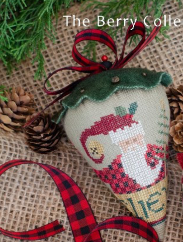 Erica Michaels Designs ~ St. Nick's LINEN Berry