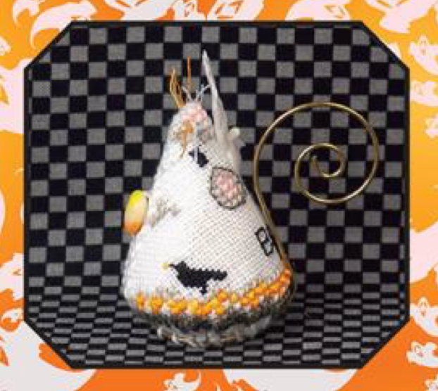 Just Nan ~ Candy Corn Ghost Mouse ~ Limited Edition