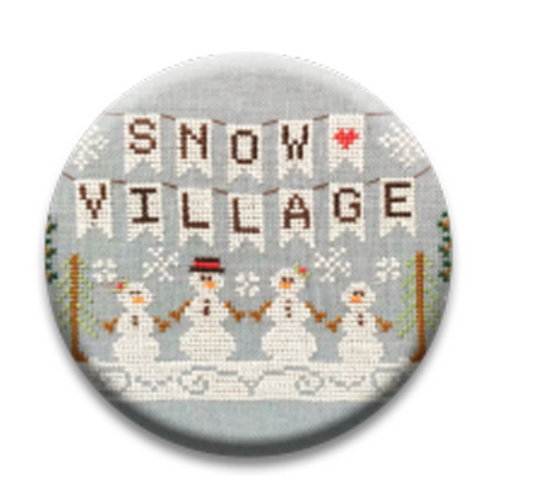 Country Cottage Snow Village Needle Nanny  **Limited # available!