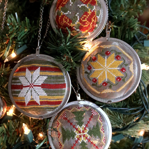 Heartstring Samplery ~ Tea Ball Ornaments