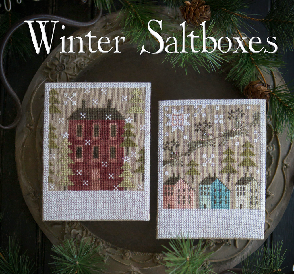Plum Street Samplers ~ Winter Saltboxes